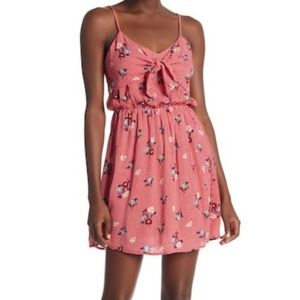 Everly Dress Red White Blue Floral checks …